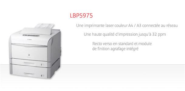 imprimante canon lbp 5975 a3 laser couleur. Black Bedroom Furniture Sets. Home Design Ideas